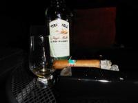 Irish whiskey and cigar