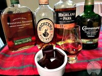 Whiskies paired with chocolate