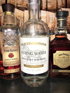 Photo shows Old Limestone mixing water with cask strength whiskies.