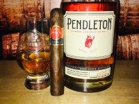 Pendleton whisky & Punch cigar